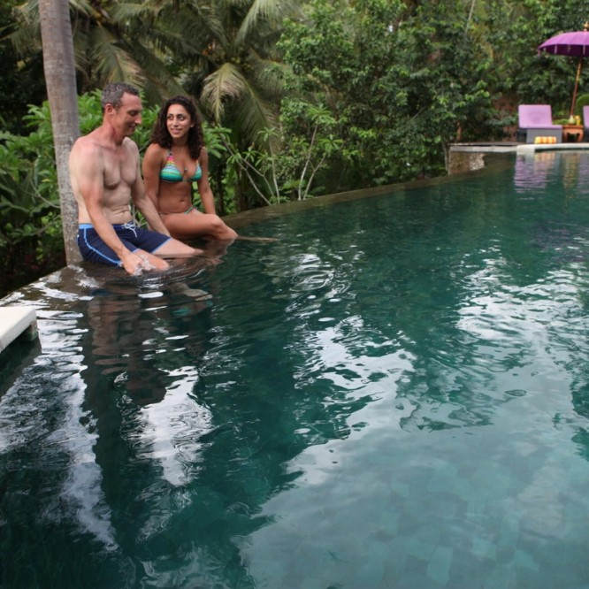 Bali Qi Gong retreat pool