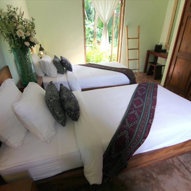 Bali Qi Gong retreat bedroom