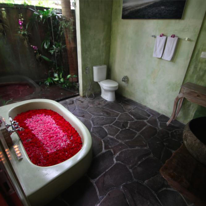 Bali Qi Gong retreat bathroom